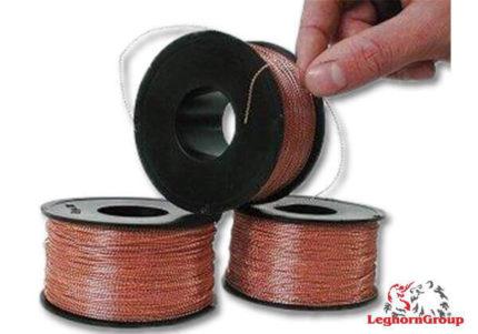 arame ondulado nylon cobre