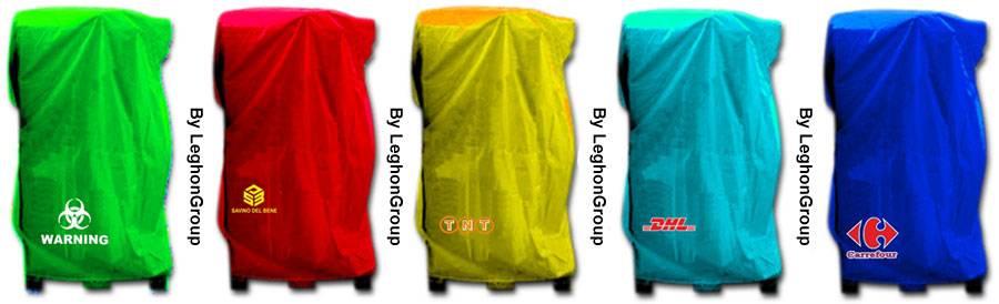 cappucci copri pallet in polietilene personalizzazioni