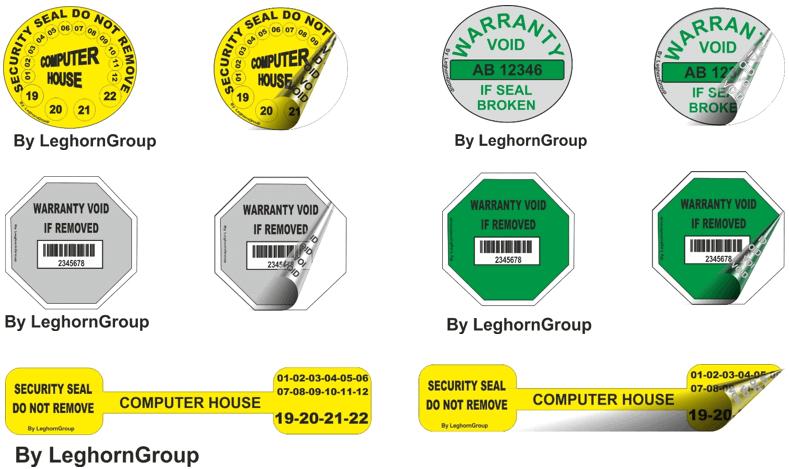 etichette antimanomissione void personalizzazioni