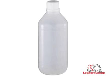frasco plástico redondo boca estreita selável