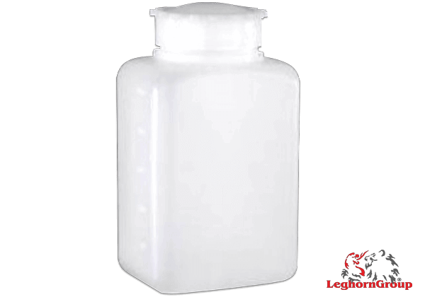 frasco plástico retangular boca larga selável