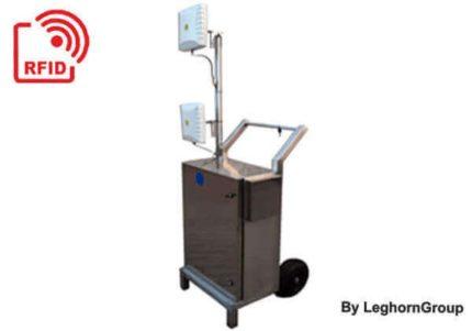 leitor móvel rw rodas carrinho blindado rfid trolley