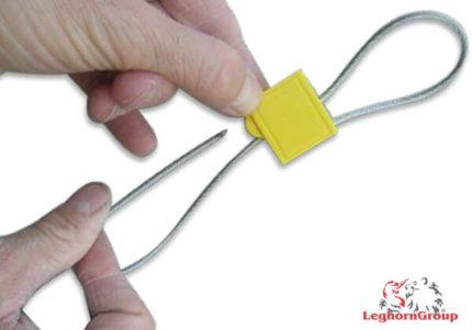 selo metálico cabo dupla passagem cronus seal