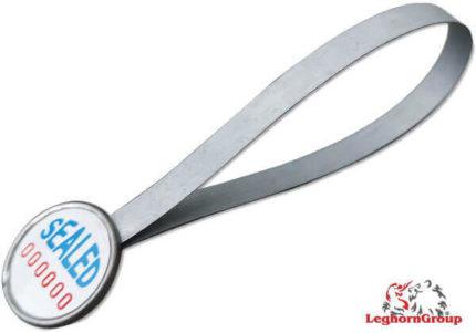 selo metálico tipo anel strapseal dm