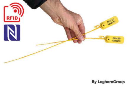 selo plástico regulável rfid nfc adjustseal