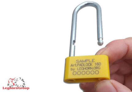 selo plástico tipo cadeado padlockseal 160x4mm