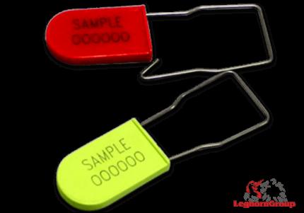 selo plástico tipo cadeado para companhias aereas padlockseal 180x1mm
