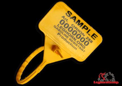 selo segurança plástico regulável orionseal 5x258mm