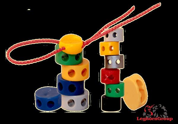 Selo  Plástico Tipo Botão A Cores Plombex