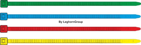 fascette autobloccanti colorate standard