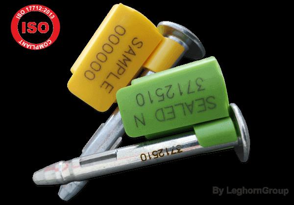 Selos metálicos de alta segurança ISO/PAS 17712