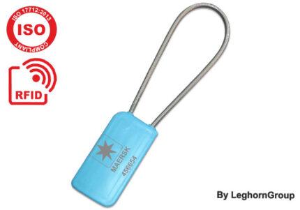 selo metálico de cabo de alta segurança rfid uhf
